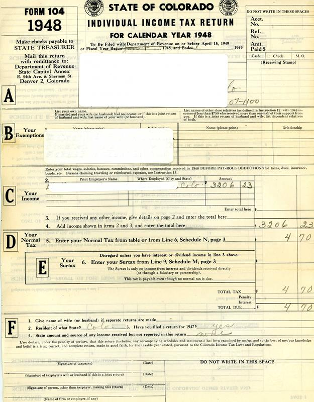 Documents from Lakewood, Colorado, 1940s & 1950s